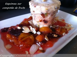 Esquimau sur composée de fruits
