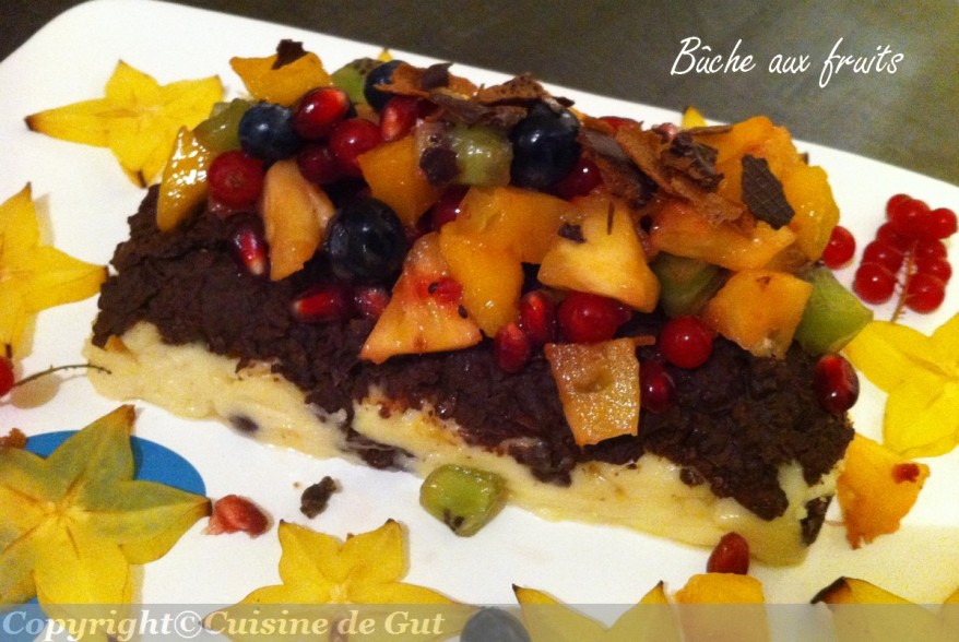Buche aux fruits