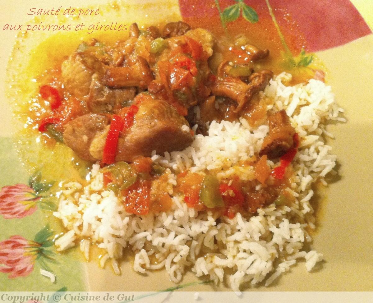 Saut de porc aux poivrons et girolles cuisine de gut - Cuisiner des cotes de porc ...