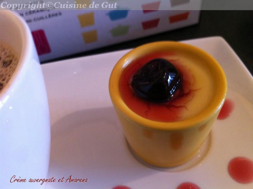 Crème auvergnate et amarena