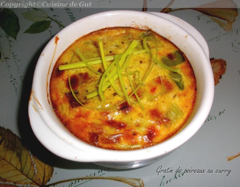 Gratin de poireaux au curry