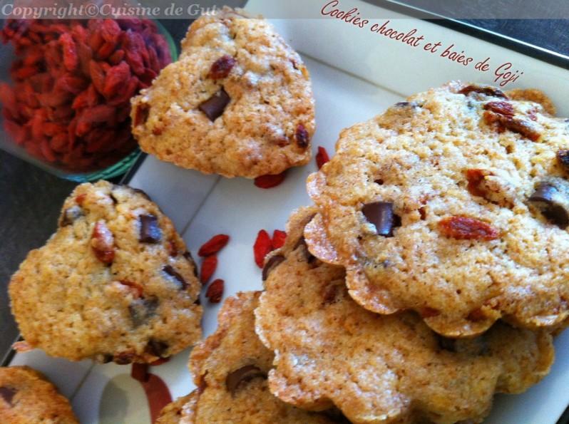 Cookies chocolat et baies de Goji