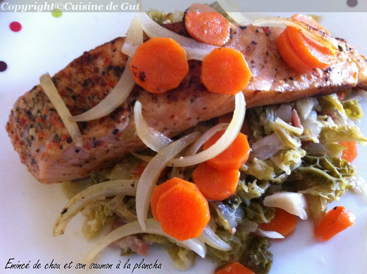 Eminc de chou et son saumon la plancha cuisine de gut for Cuisine 0 la plancha