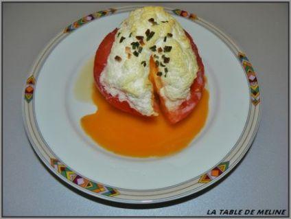 Tomates farcie à l'oeuf cocotte Jacqueline