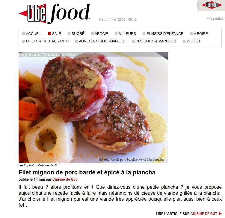 Filet mignon bard la plancha cuisine de gut for Cuisine 0 la plancha