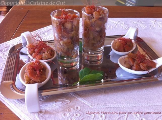 Légumes marocains pour apéro gourmand