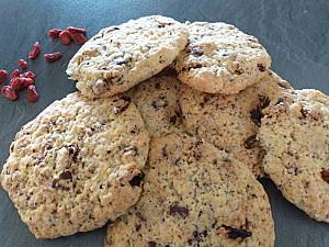 Cookies chocolat baies de goji Gridelle