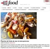 Plancha de fruits de mer