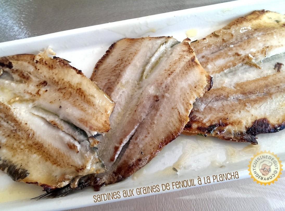Sardines aux graines de fenouil la plancha cuisine de gut - Accompagnement sardines grillees barbecue ...
