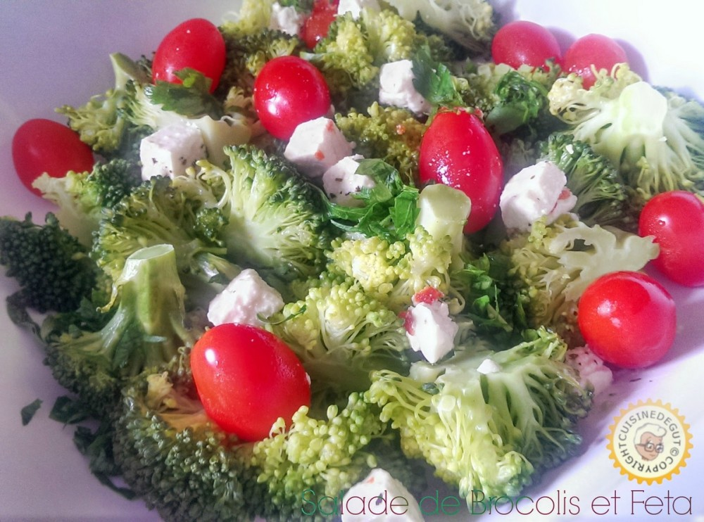 Salade de brocoli feta