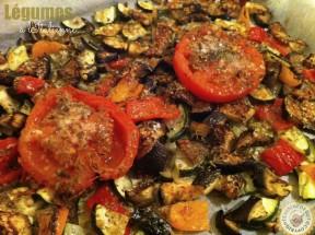 Légumes et tomates après cuisson