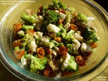 Salade de brocolis, tomates et cabecou 2 paruline