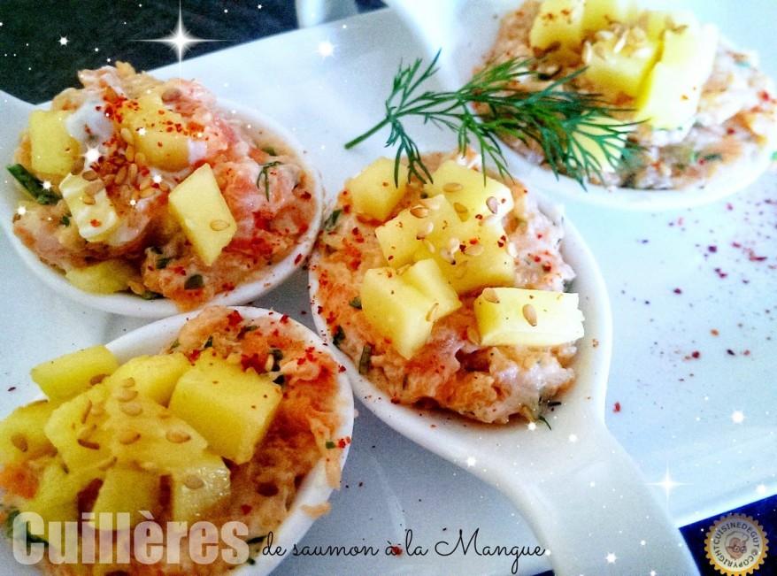 Cuillères de saumon à la mangue