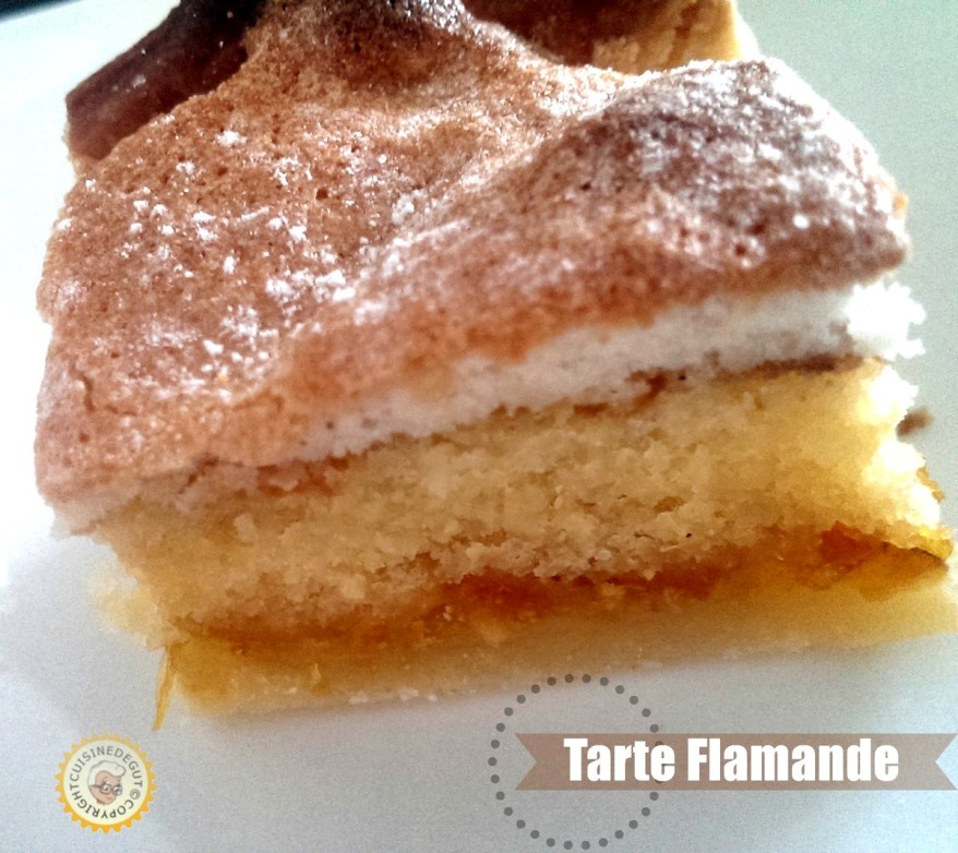 Tarte flamande part carré