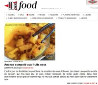 Ananas Compotéaux fruits secs