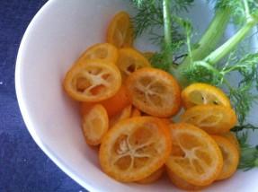 Kumquats coupés en rondelles