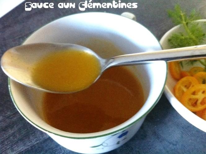 Sauce clémentines