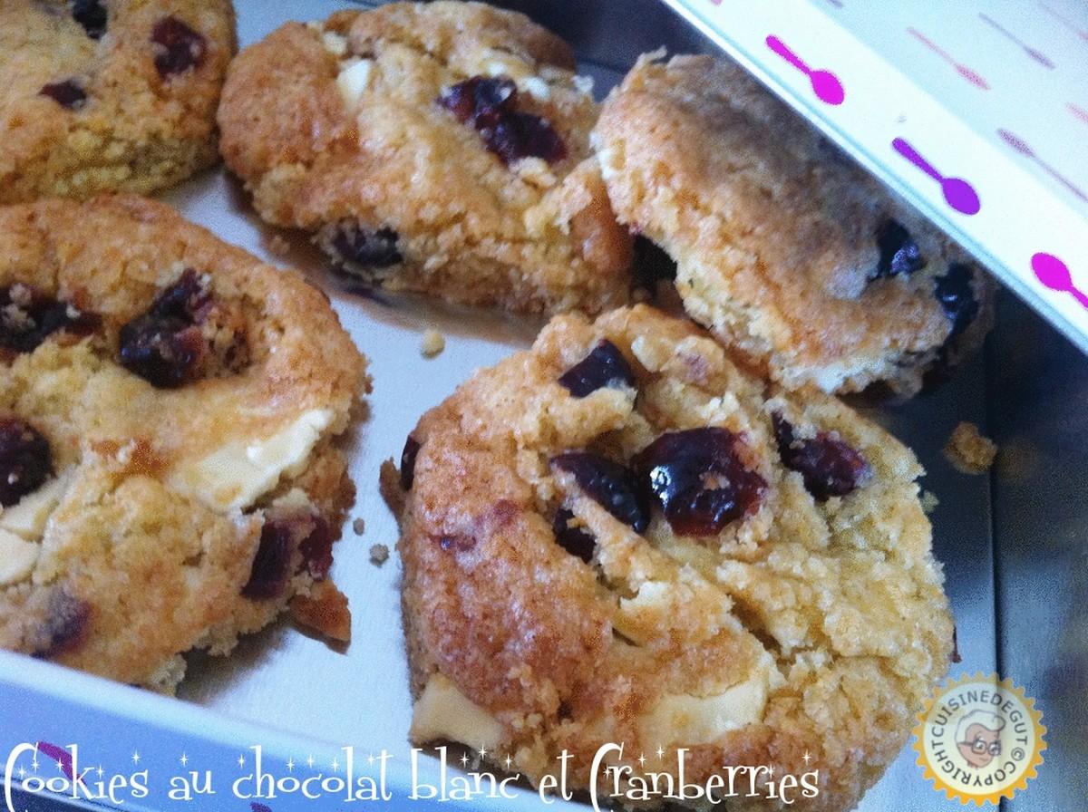 cookies au chocolat blanc et cranberries cuisine de gut. Black Bedroom Furniture Sets. Home Design Ideas