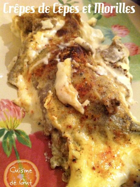 Crêpe cuite dans l'assiette