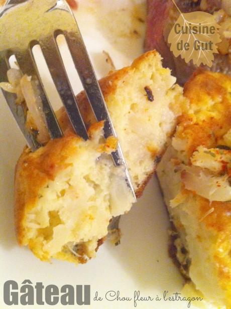 Intérieur d'un gâteau de chou fleur