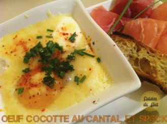 Oeuf cocotte cuit