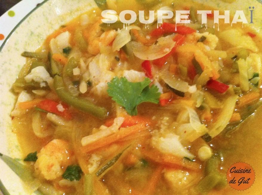 Soupe thai assiette