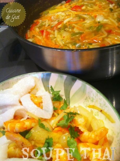 Préparation des poissons et soupe en attente