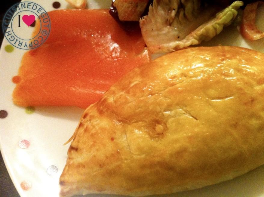 Chausson endives saumon assiette