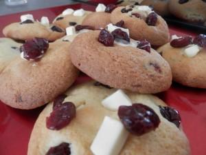 Cookies chocolat blanc cranberries Sophie