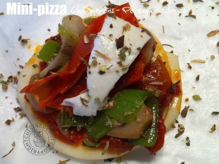 Mini-pizza au chorizo crue