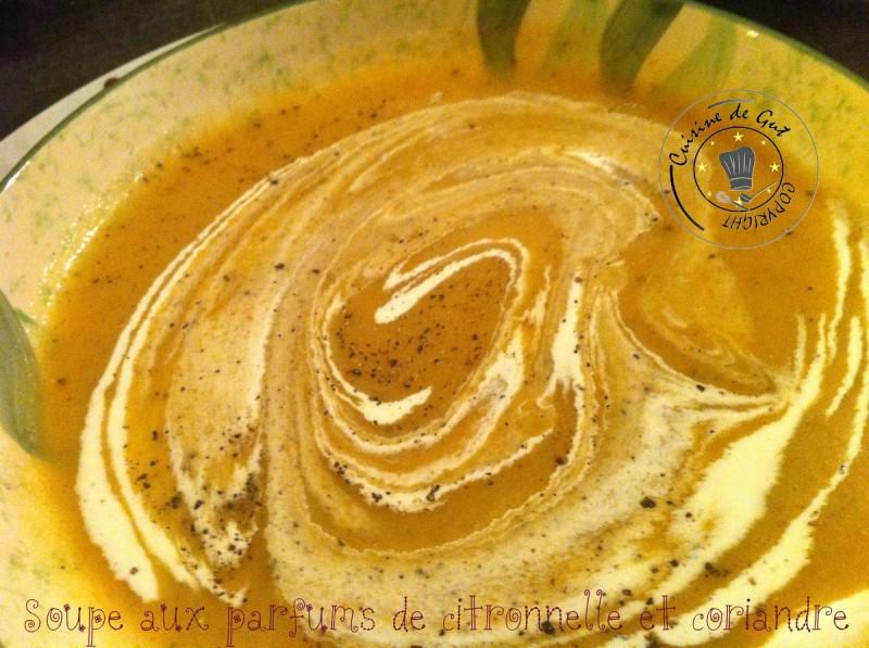 Soupe citronnelle et coriandre