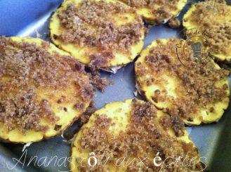 Ananas avant la mise au four
