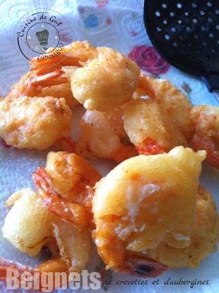 beignets de cretvettes et aubergines