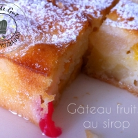 Gâteau fruits au sirop