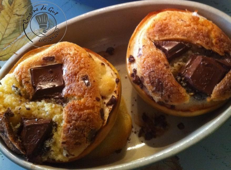 Pommes et crème d'amande chocolatée 2