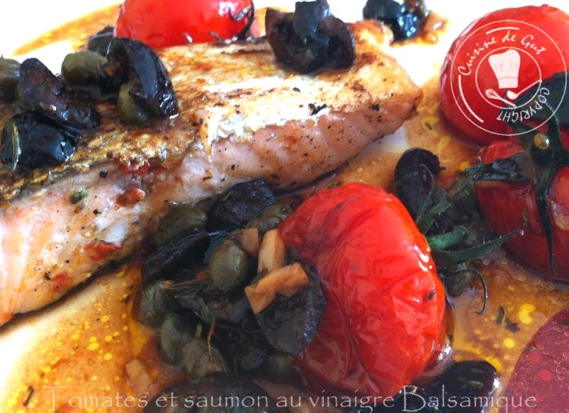tomates et saumon au vinaigre balsamique