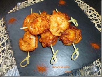Beignets de crevettes Tandori assia
