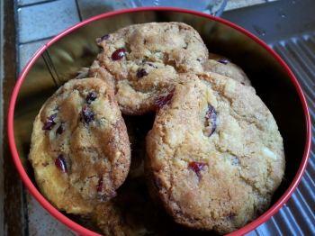 Cookies chocolat blanc et cranberries de caroline non blogueuse !!