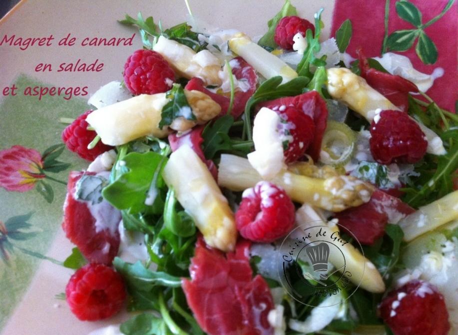 Magret de canard en salade