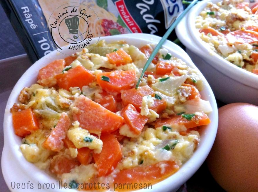 oeufs brouillés carottes et parmesan2