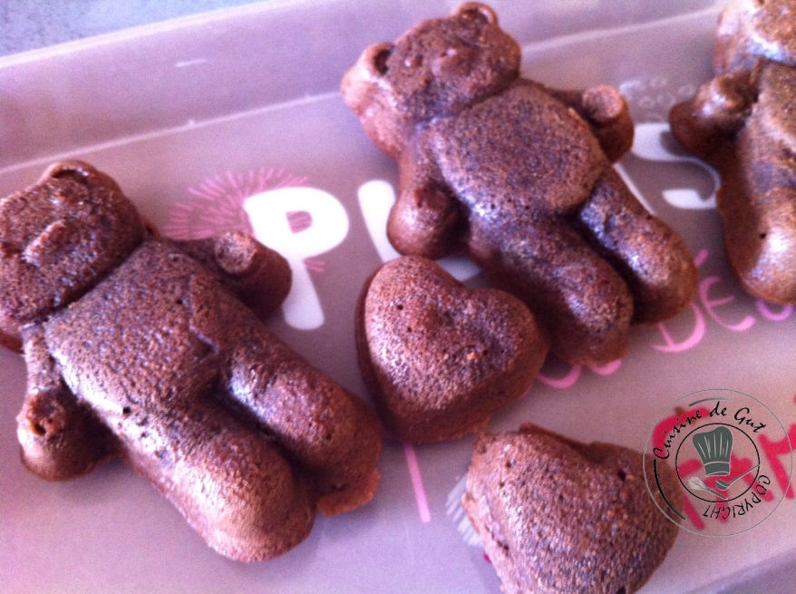 Oursons chocolat plat