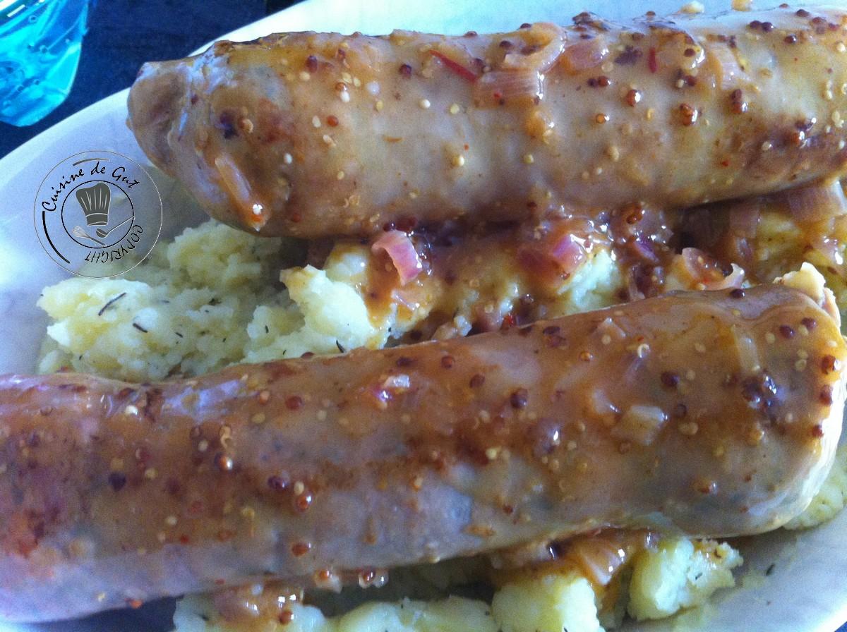Andouillettes moutarde au piment d espelette cuisine de gut - Cuisiner des andouillettes ...