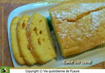 cake citron comme une madeleine  part Flaure