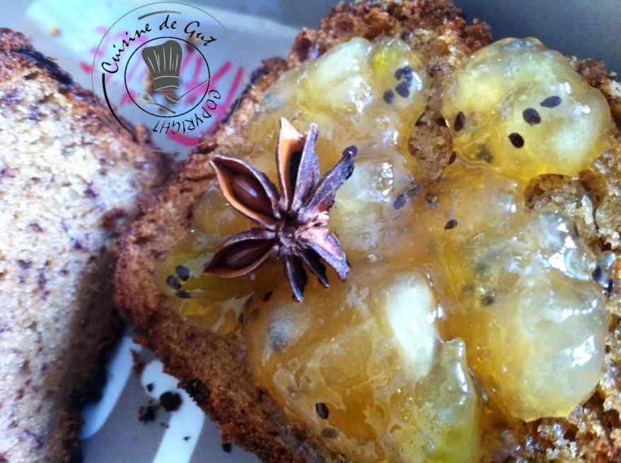 Confiture poires kiwis étoile