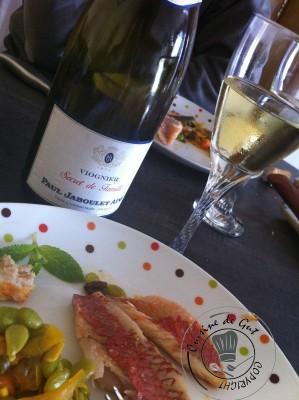 Dégustation du plat et du vin