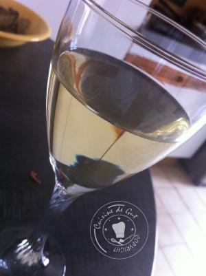 Verre de vin blanc Vognier Secret de Famille