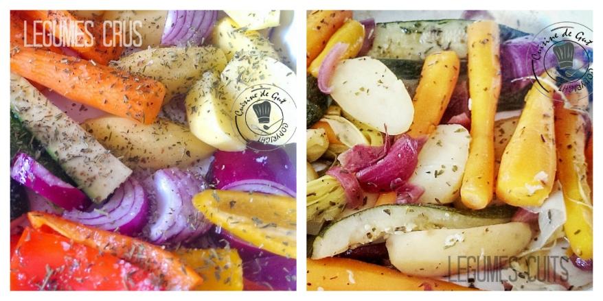 Cabillaud et ses légumes au four