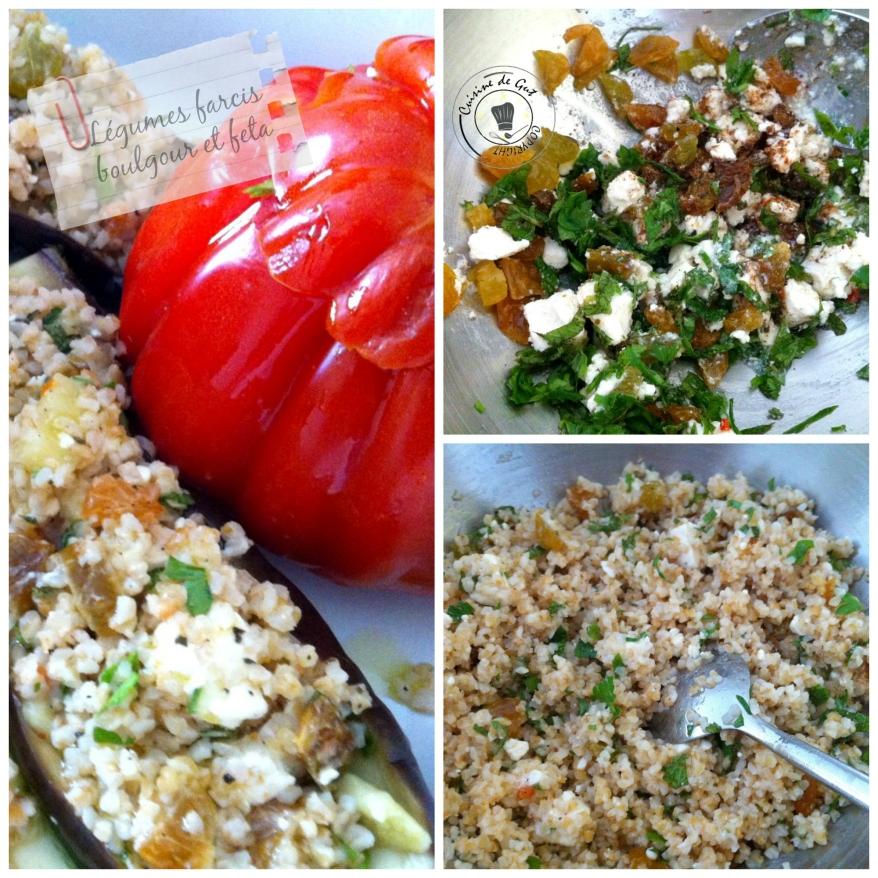 Légumes farcis boulgour feta Collage