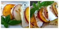 Pêches mozzarella Collage