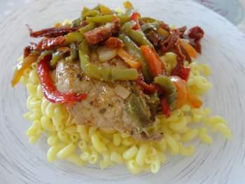 Porc sauce sofrito fourchettes et pinceaux Gourmandine